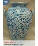 Schirmständer mit Keramikgriffen aus Caltagirone (H 50 cm)