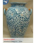Porta onmbrelli con manici in ceramica di Caltagirone (h cm 50)