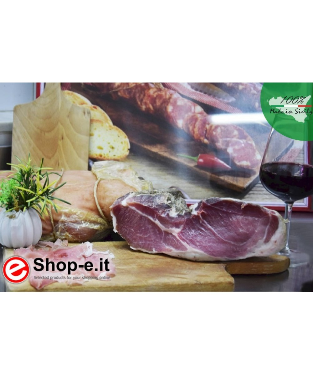 1 kg of raw ham from the madonie