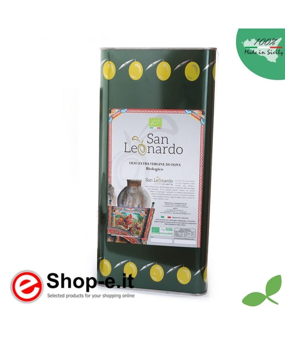 5 Liter sizilianisches Bio-Olivenöl extra vergine