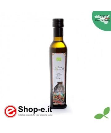 Olio extra vergine di oliva biologico siciliano bottiglia da 075lt