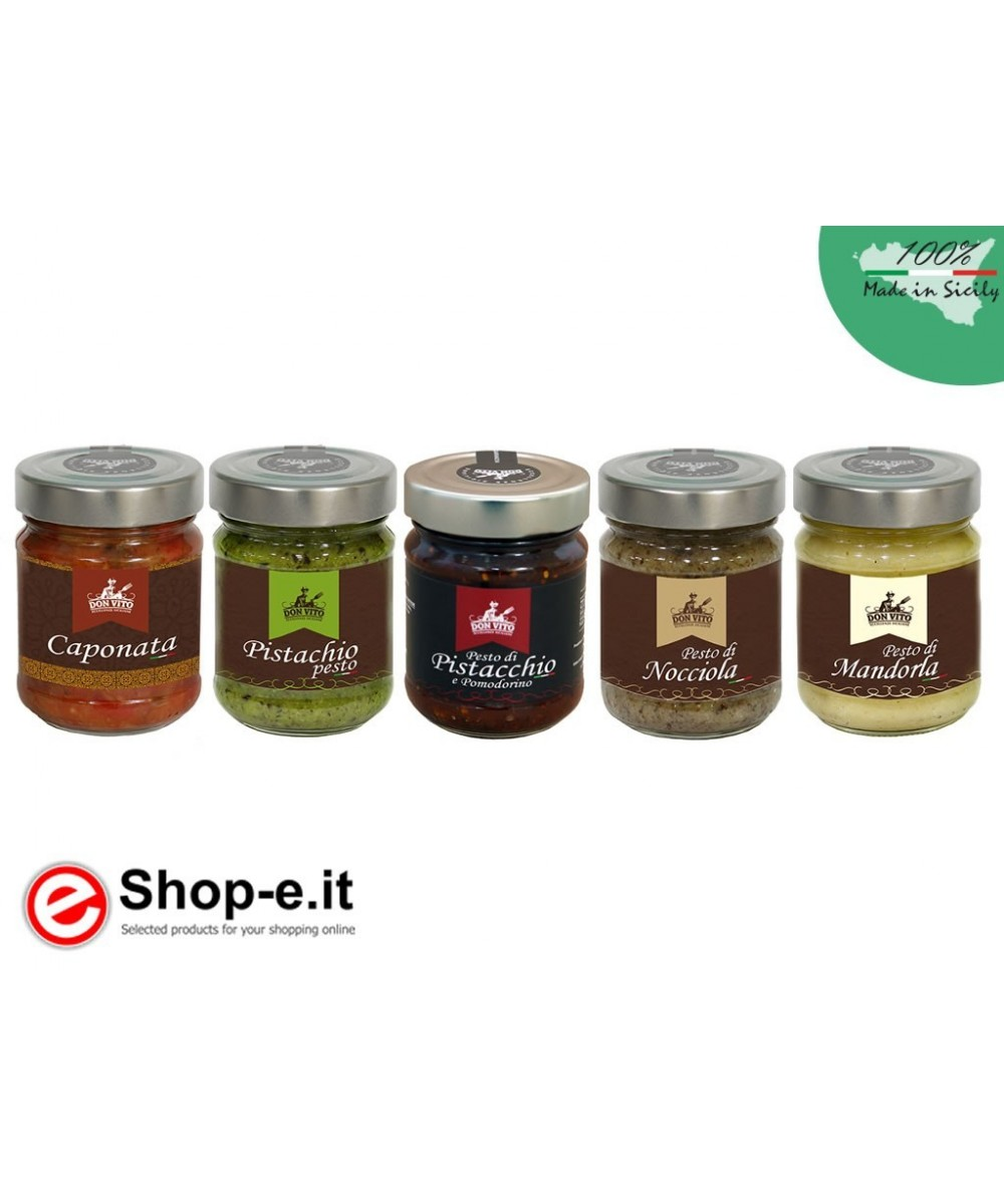 Pesto and caponata, package offered
