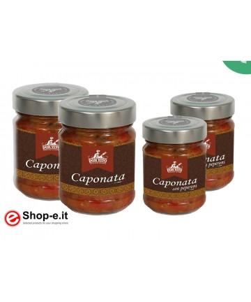Auberginen-Caponata und Pfeffer-Caponata