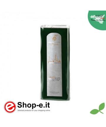 Latta da 0,5 litri di olio biologico siciliano Lalia
