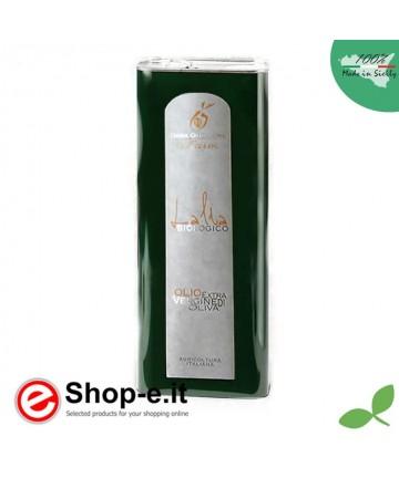 Latta da 5 litri di olio biologico siciliano Lalia