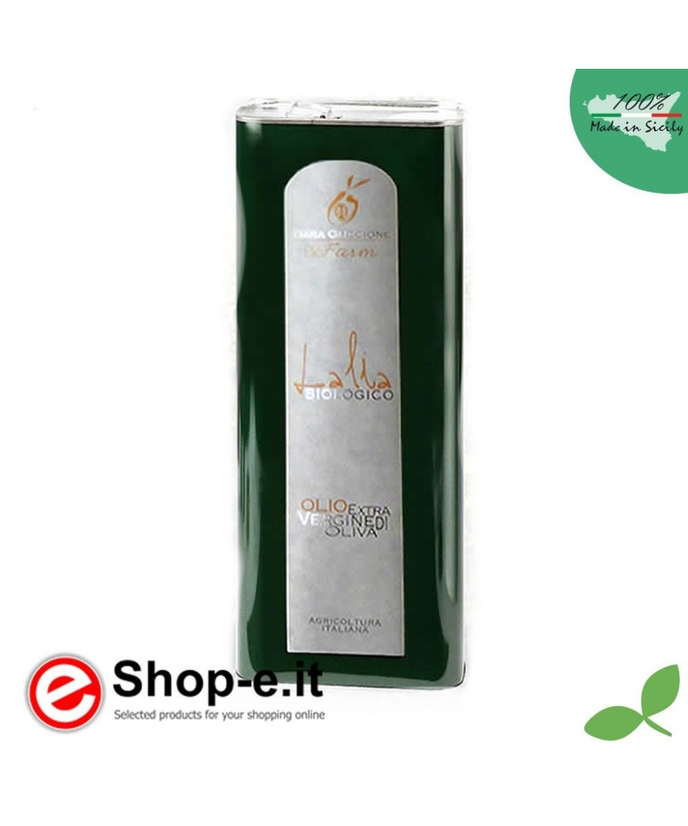 5 liter can of Sicilian organic oil Lalia