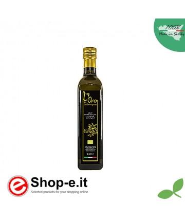 Bottiglia 0,50 lt Olio Extra Vergine di Oliva da coltivazione biologica