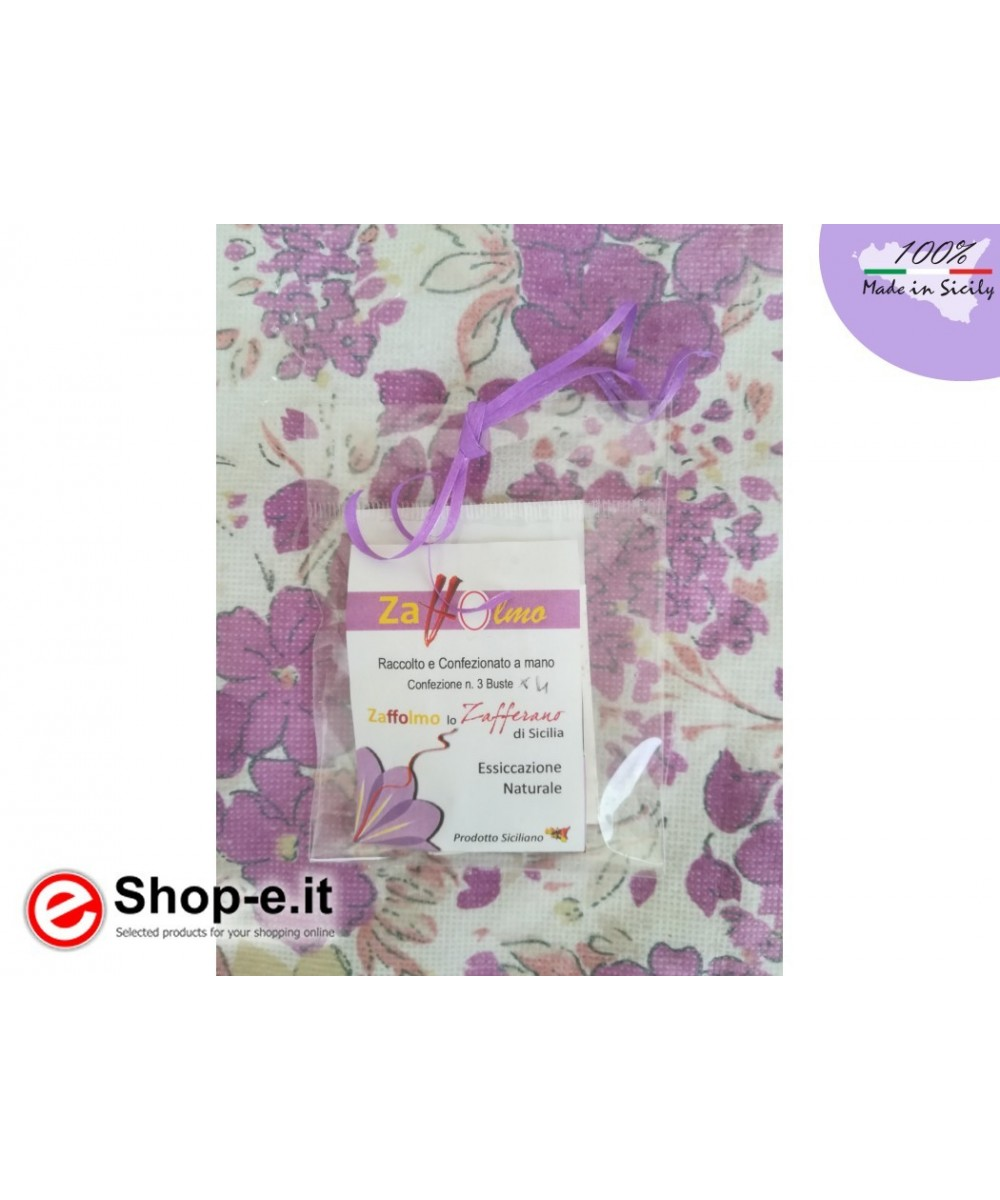 nr. 2 envelopes ground saffron contains 3 portions each for 4 people