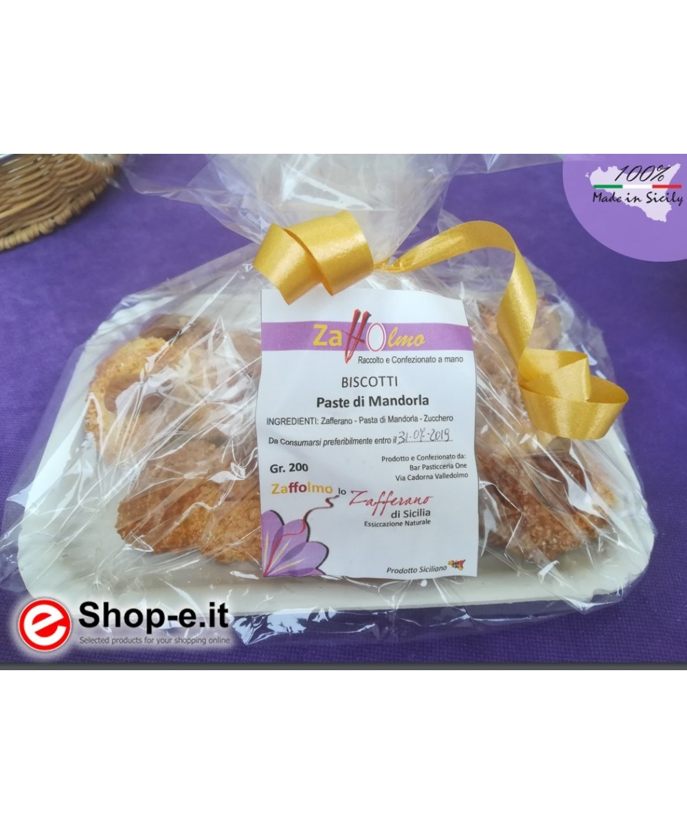 Almond Paste and Saffron Biscuits