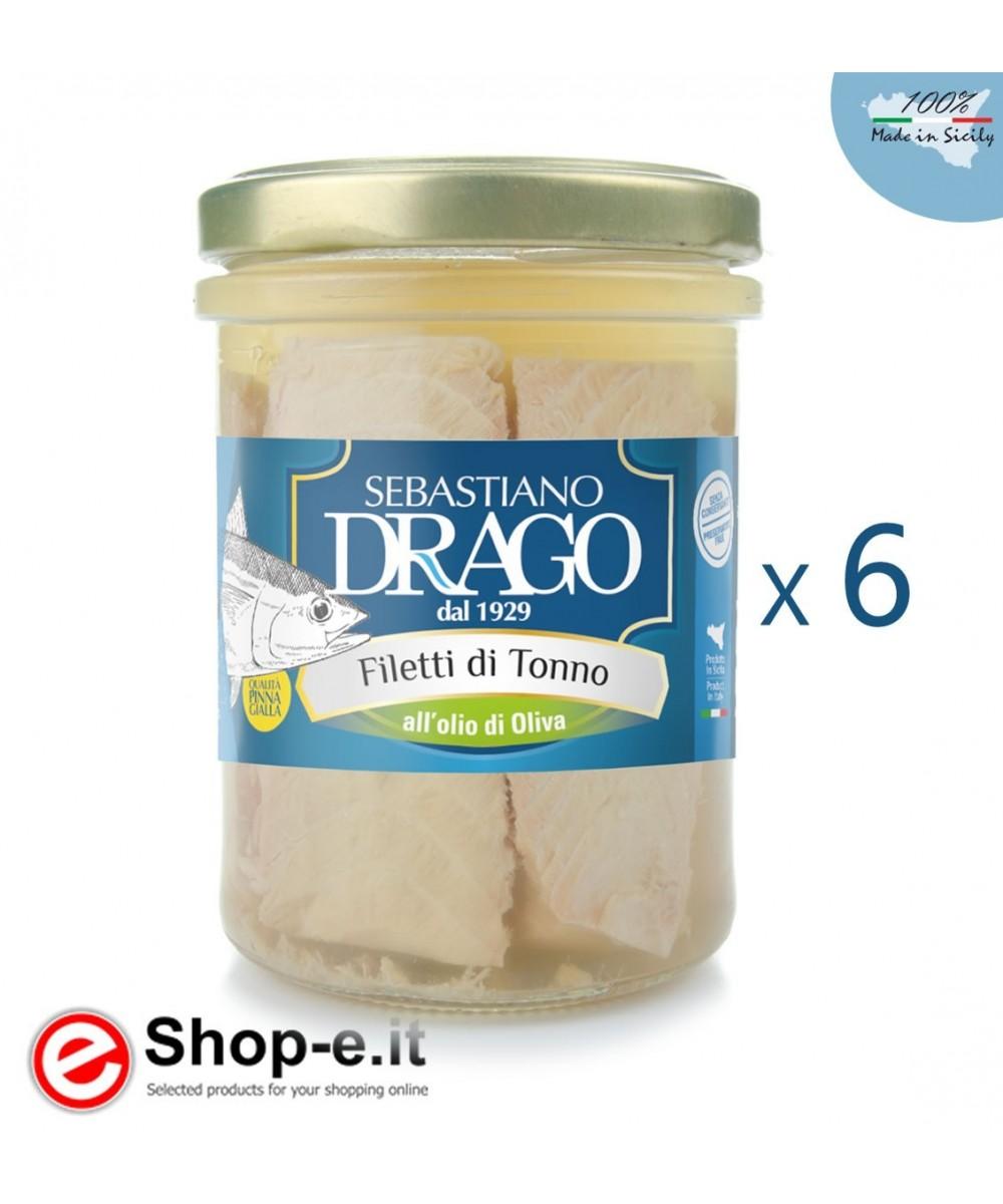 (6 pcs) Tuna fillets in olive oil