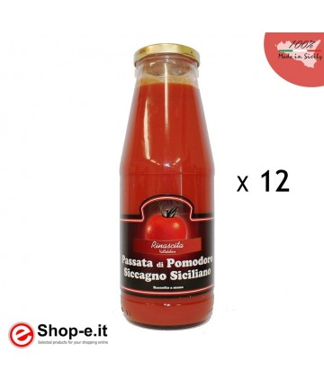 12 bottles of Sicilian Sicilian tomato puree