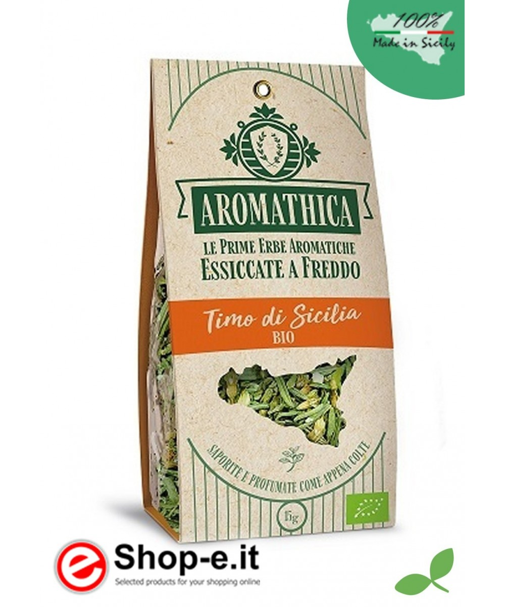 Cold-dried organic Sicilian thyme