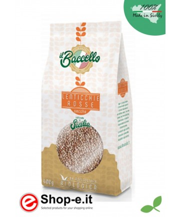 4 kg of organic mignon red lentils - Cultivated in Sicily