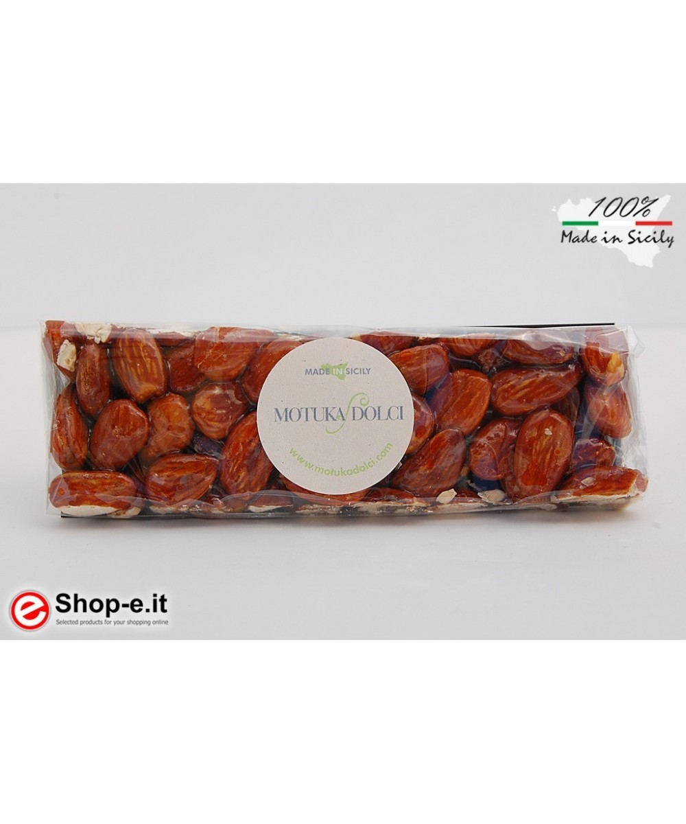 Roasted nougat with 100 grams of Modica almonds