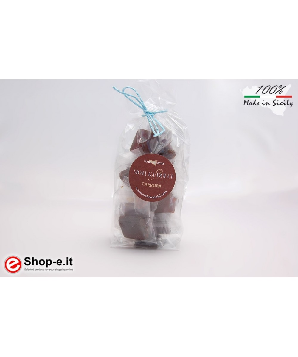 Hand-made carob candies of 100 grams