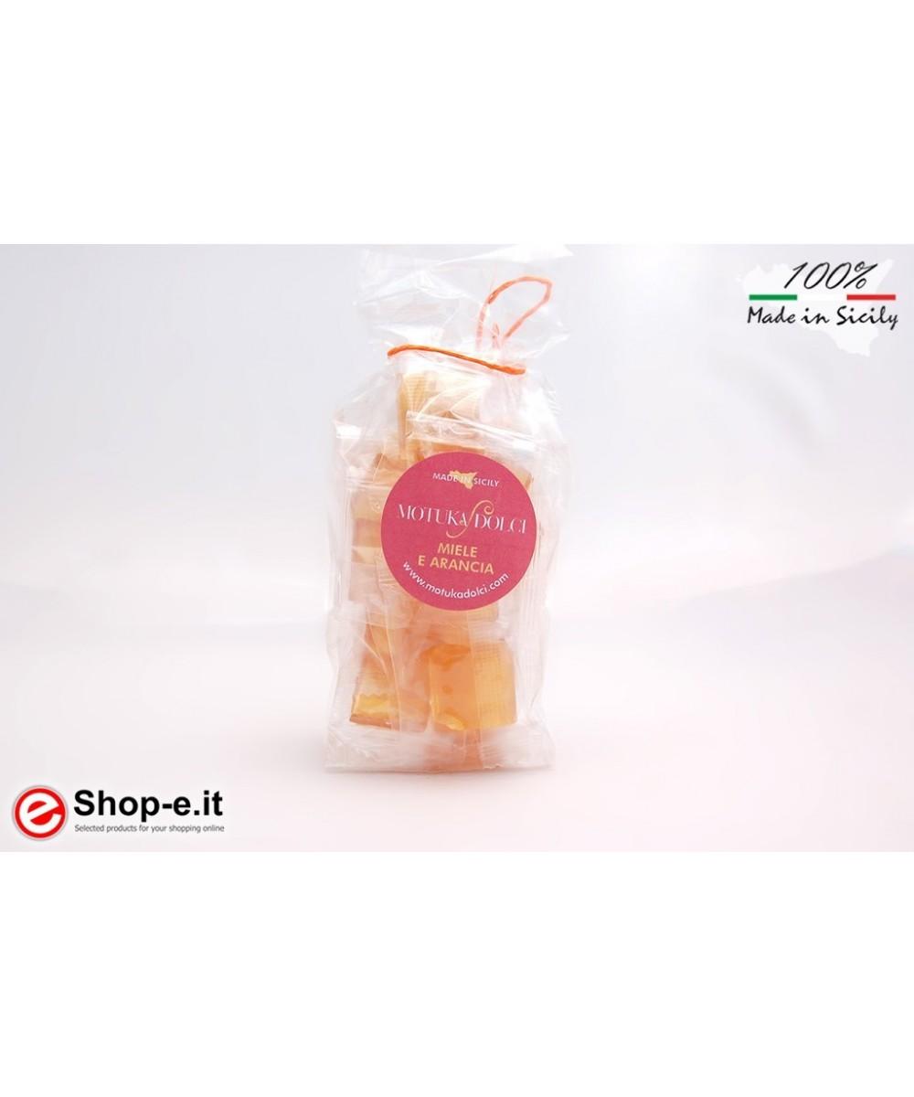 Hand-made 100 grams honey and orange candies