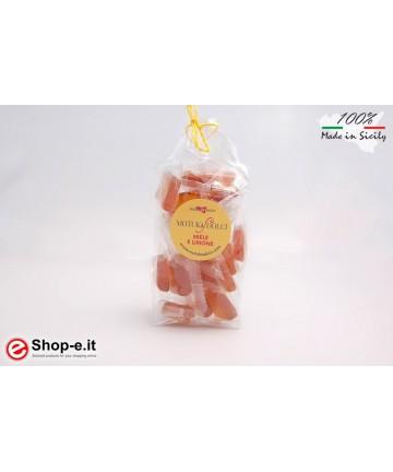 Handgemachter Honig und Zitrone 100 Gramm Bonbons