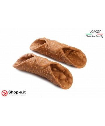 Cialde maxi CANNOLI SICILIANI da 250 grammi -12 pezzi per confezione