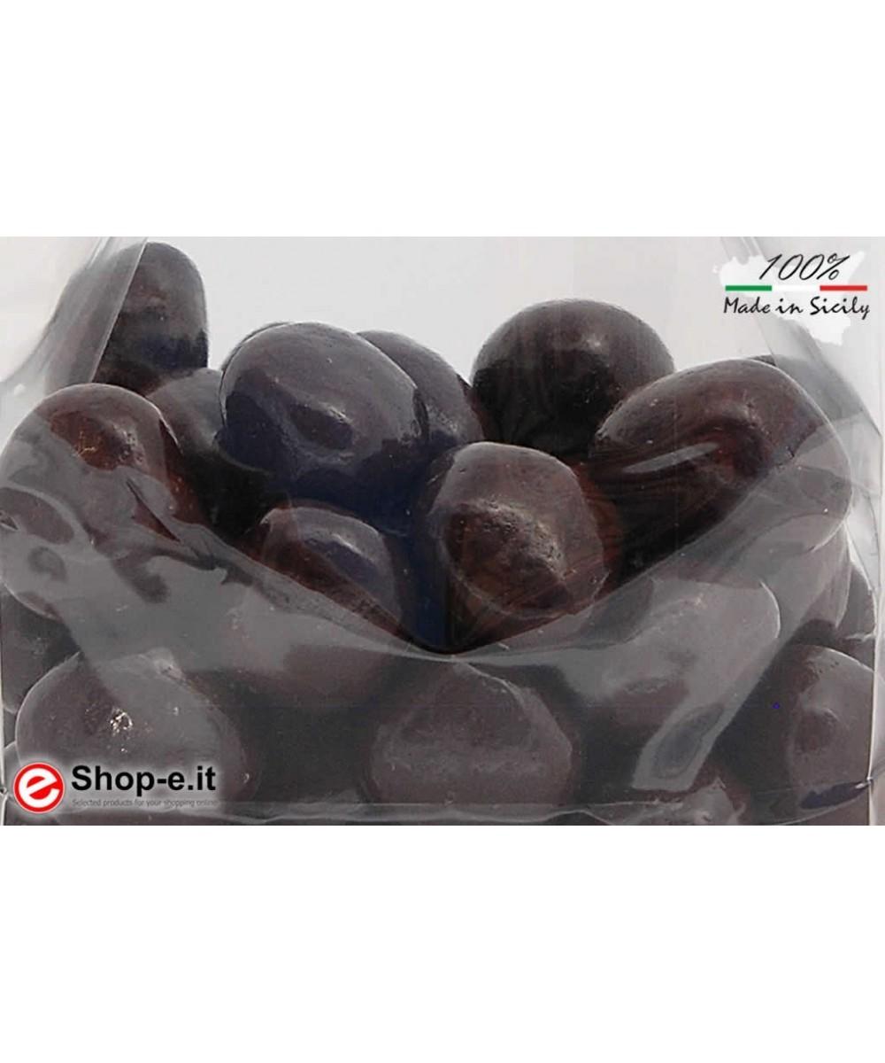 Orangenschale mit 100 g dunkler Schokolade �berzogen