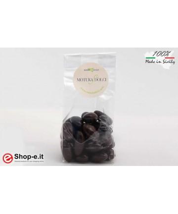 Mandorle ricoperte da cioccolato fondente da 100 grammi