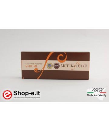 100 Gramm sizilianische Modica-Schokolade mit Zitrusfrüchten