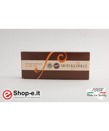 100 grams Sicilian Modica chocolate with citrus fruits