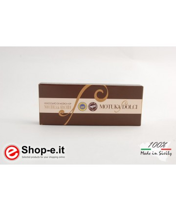 Modica chocolate with 100 gram hazelnuts