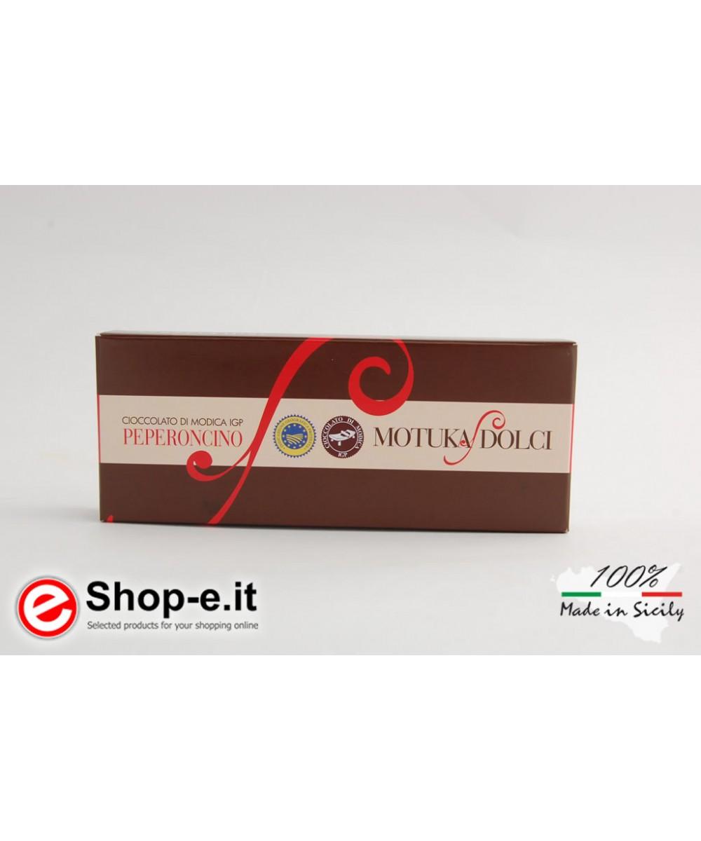 100 grams of Modica chilli chocolate