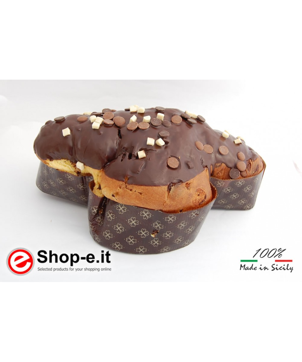ARTISAN COLOMBA WITH 3 CHOCOLATES: DARK, MILK AND WHITE FROM 1 KG