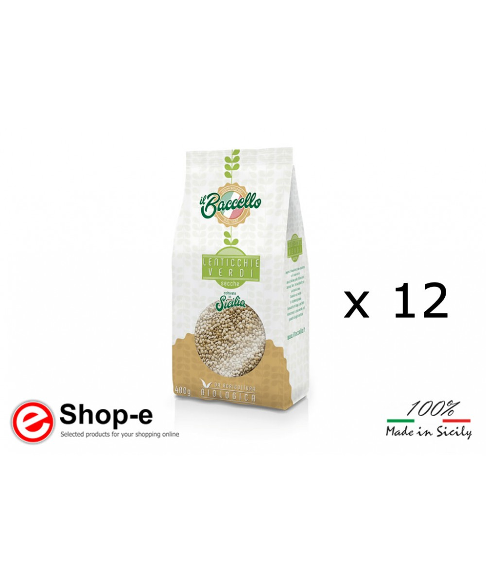 4.8 KG OF LARGE ORGANIC GREEN LENTILS - CULTIVATED IN SICILY