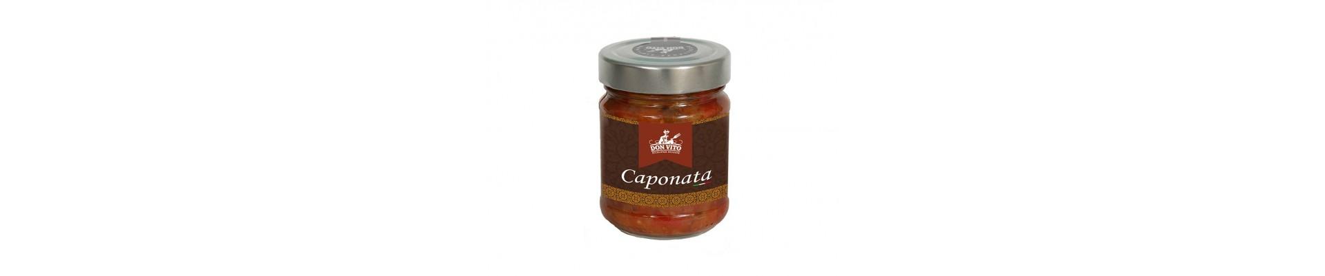 Online sale of eggplant caponate and pistachio pesto from Bronte, haze