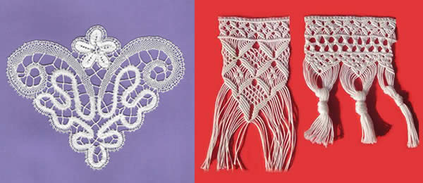 Online sale of edges, lace and lace